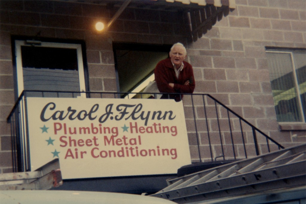 Papa At His Plumbing Company