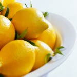 Lemons in White Bowl