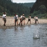 rock skipping boys